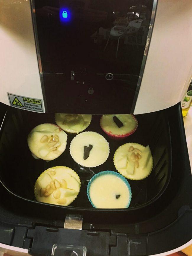 I Muffin nella nostra Airfryer Caso Design